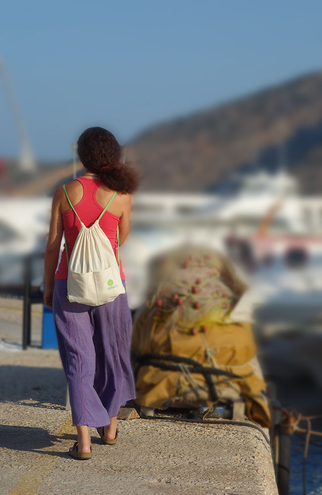 Traditional backpack of Sifnos